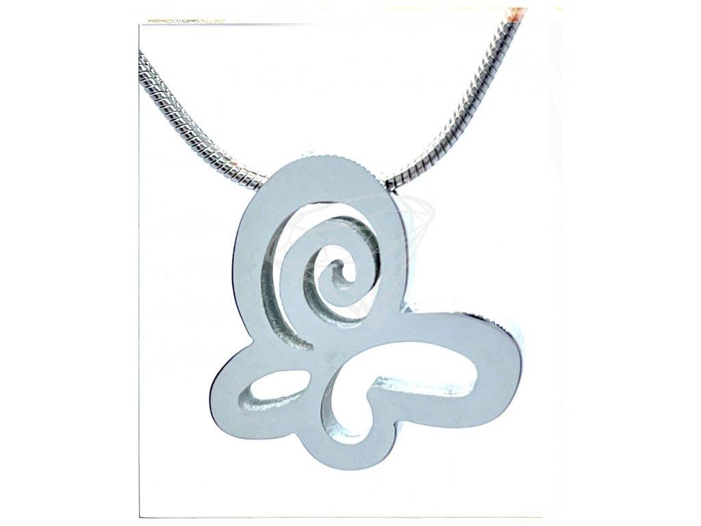 (O4058) Ocelový dámský set/náhrdelník MOTÝL