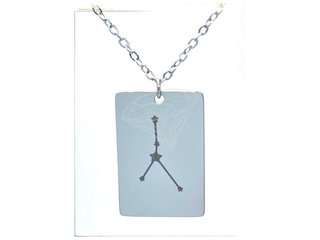 (O3059) Ocelový přívěsek ZNAMENÍ ZVĚROKRUHU, SOUHVĚZDÍ / RAK s řetízkem