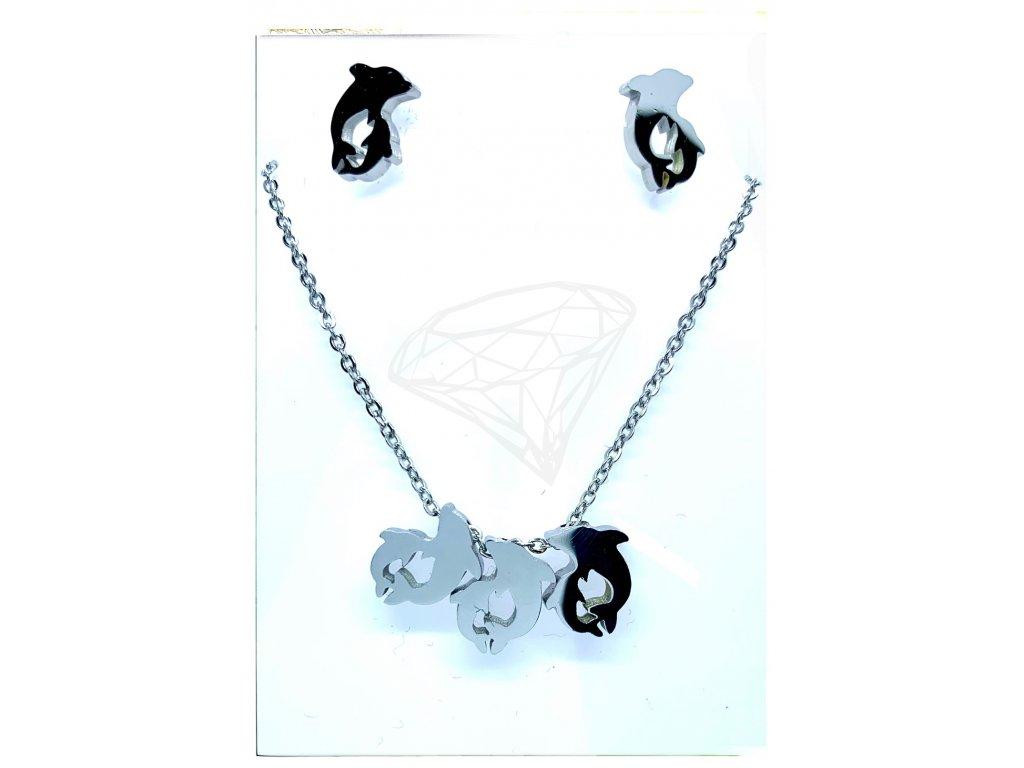 (O514) Ocelový dámský set DELFÍN bez kamínku