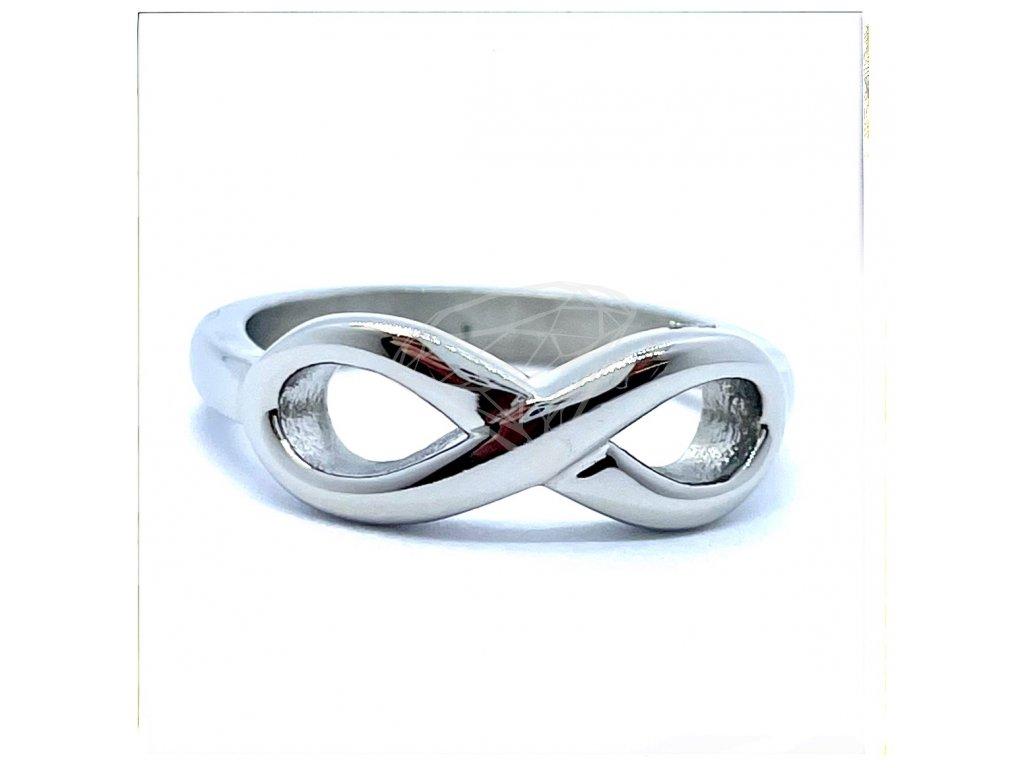 (O156) Ocelový dámský prsten NEKONEČNO