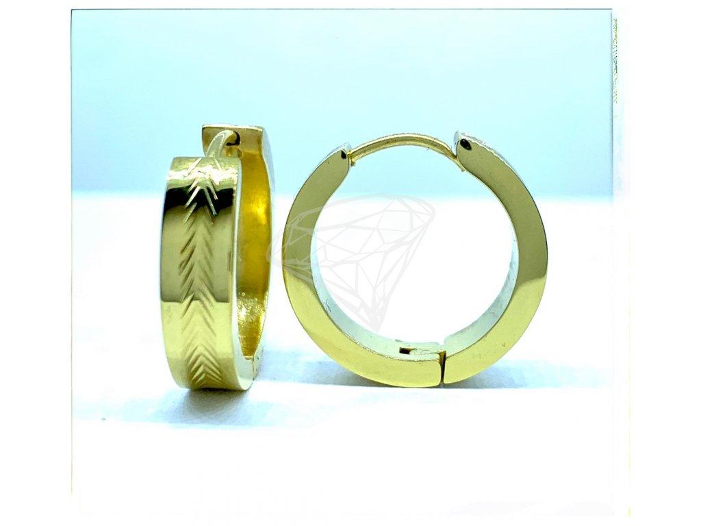 (O5229) Ocelové náušnice KRUHY GOLD/zlatá barva.