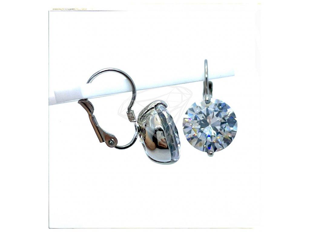 (O233) Ocelové dámské náušnice s kamínkem Ø 12 MM