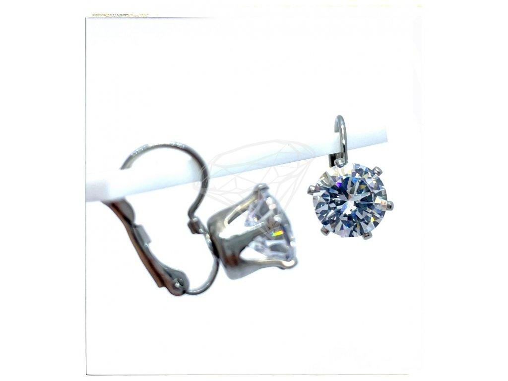(O235) Ocelové dámské náušnice s kamínkem Ø 9 MM