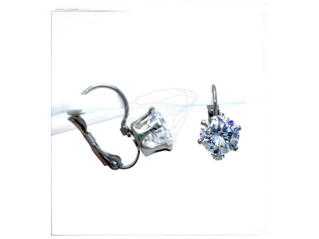 (O236) Ocelové dámské náušnice s kamínkem Ø 8 MM