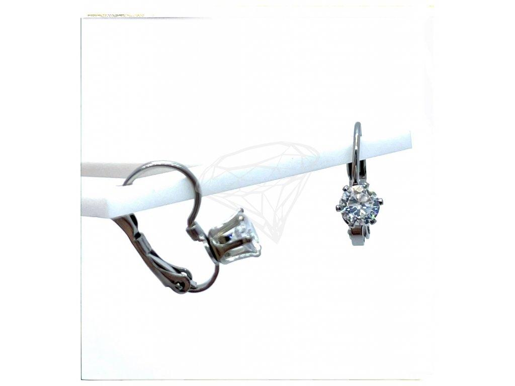 (O238) Ocelové dámské náušnice s kamínkem Ø 5 MM