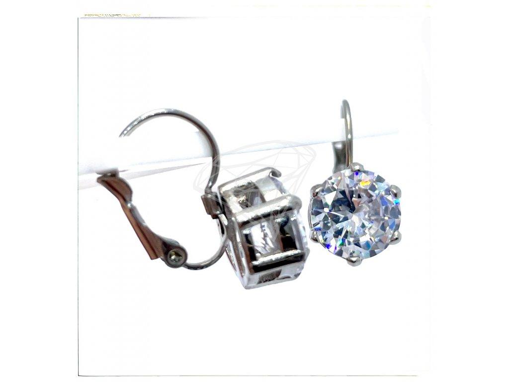 (O241) Ocelové dámské náušnice s kamínkem Ø 10 MM