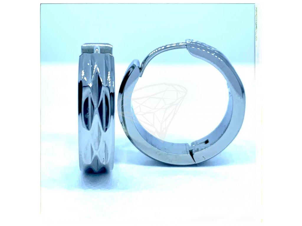 (O5225) Ocelové náušnice KRUHY s gravírováním
