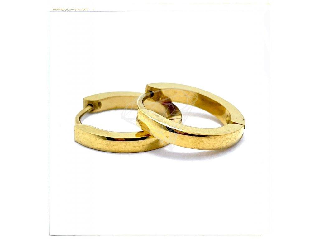 (O5339) Ocelové náušnice KROUŽKY Ø 16 MM, GOLD/zlatá barva