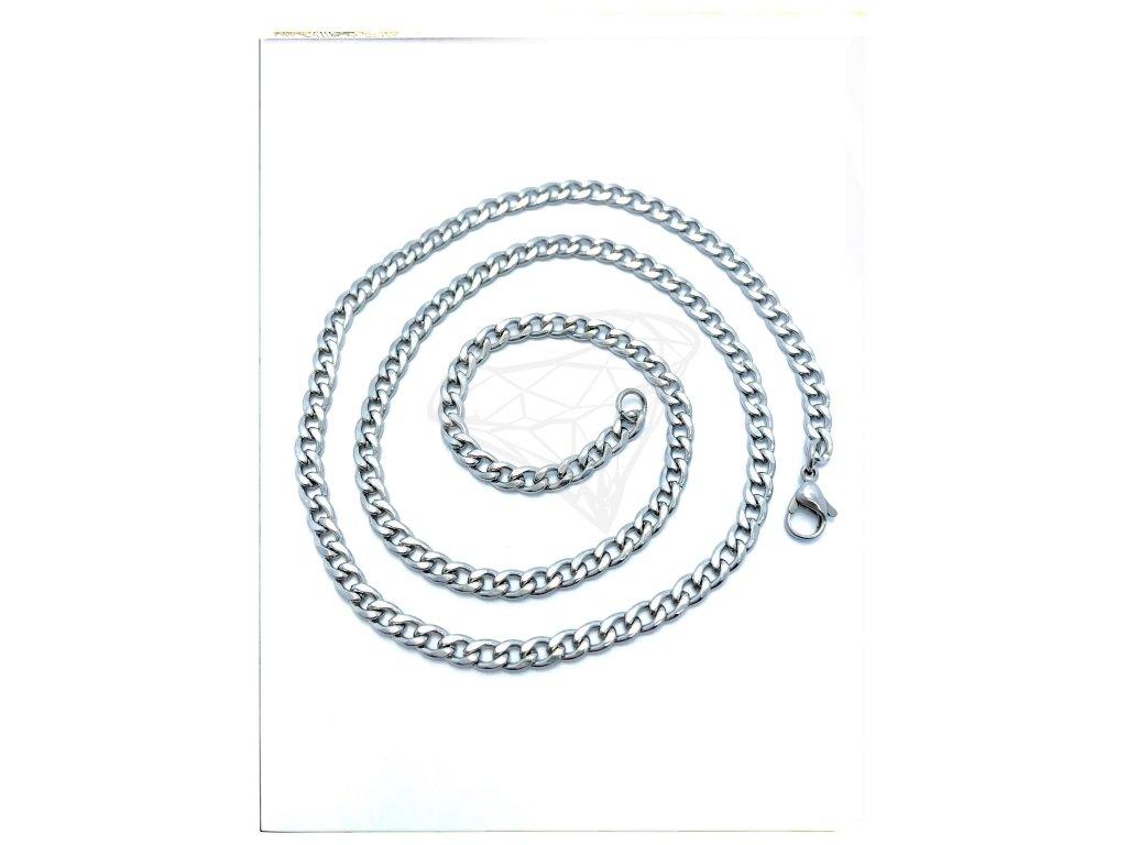 (S321) Ocelový řetízek PANCER 36 - 55/0,4 cm