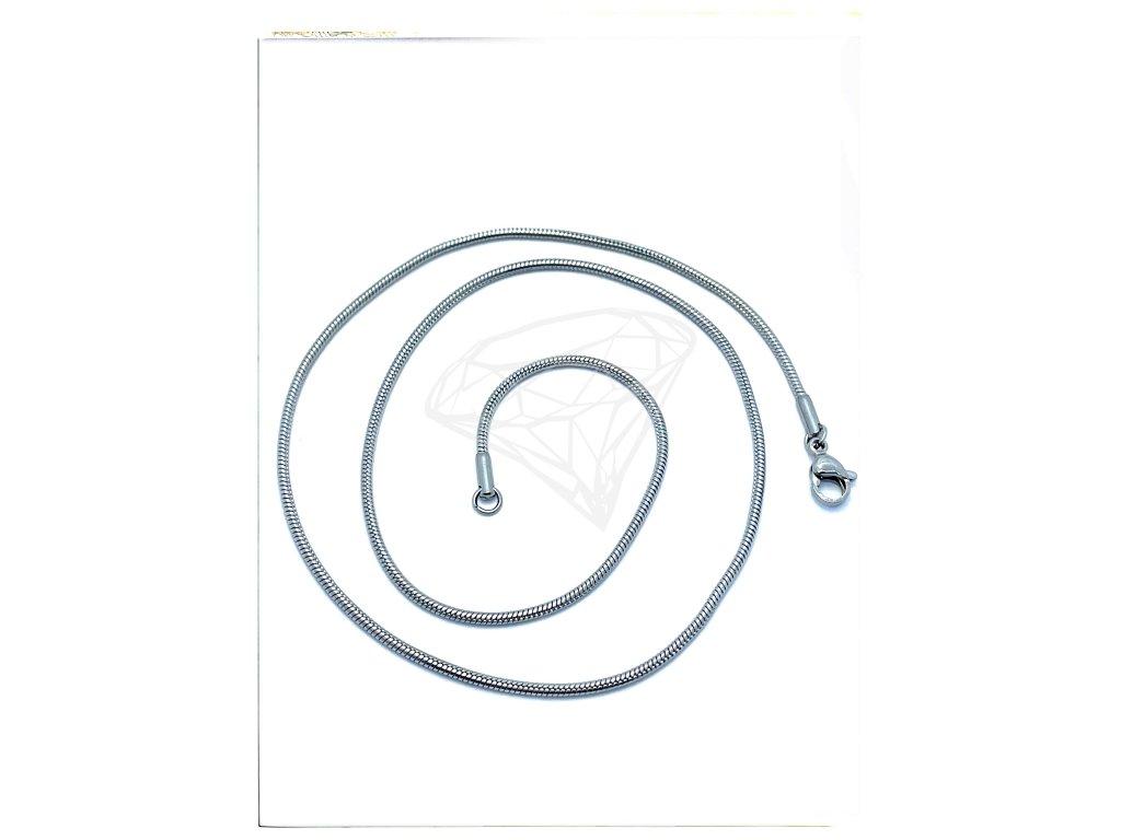 (O384) Ocelový dámský řetízek LANKO (HÁDĚ) 45,70/0,15 cm