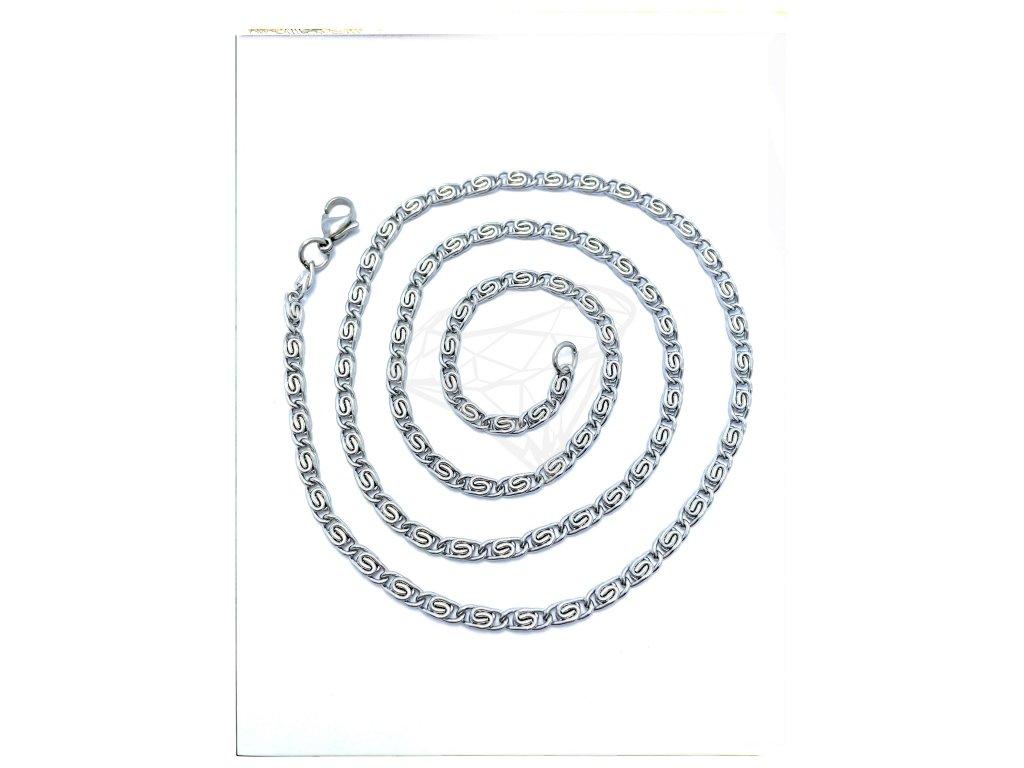 (O356) Ocelový řetízek ŠNEK 36 - 60/0,3 cm