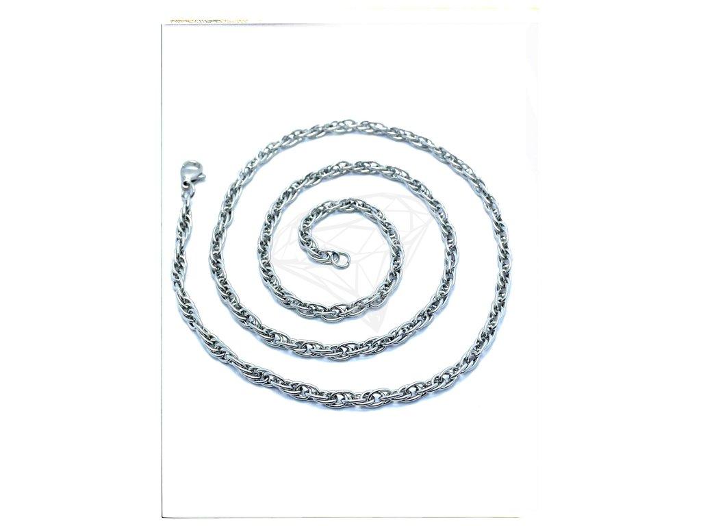 (S401) Ocelový řetízek 36 - 55 cm/0,4 cm, kroucený LAMBÁDA