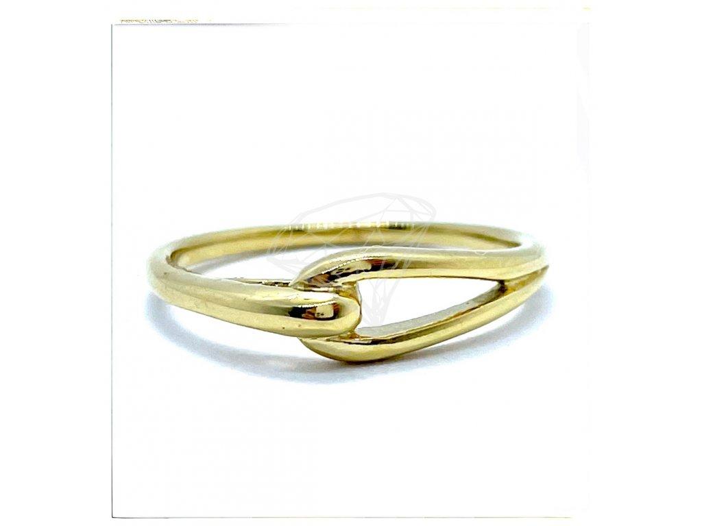 (O162) Ocelový dámský prsten, GOLD/zlatá barva
