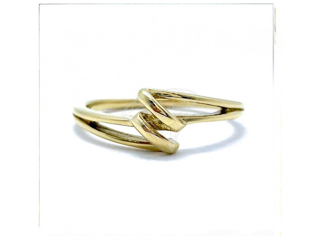 (O163) Ocelový dámský prsten, GOLD/zlatá barva