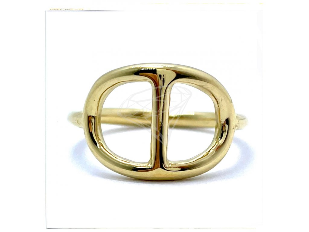 (O164) Ocelový dámský prsten, GOLD/zlatá barva