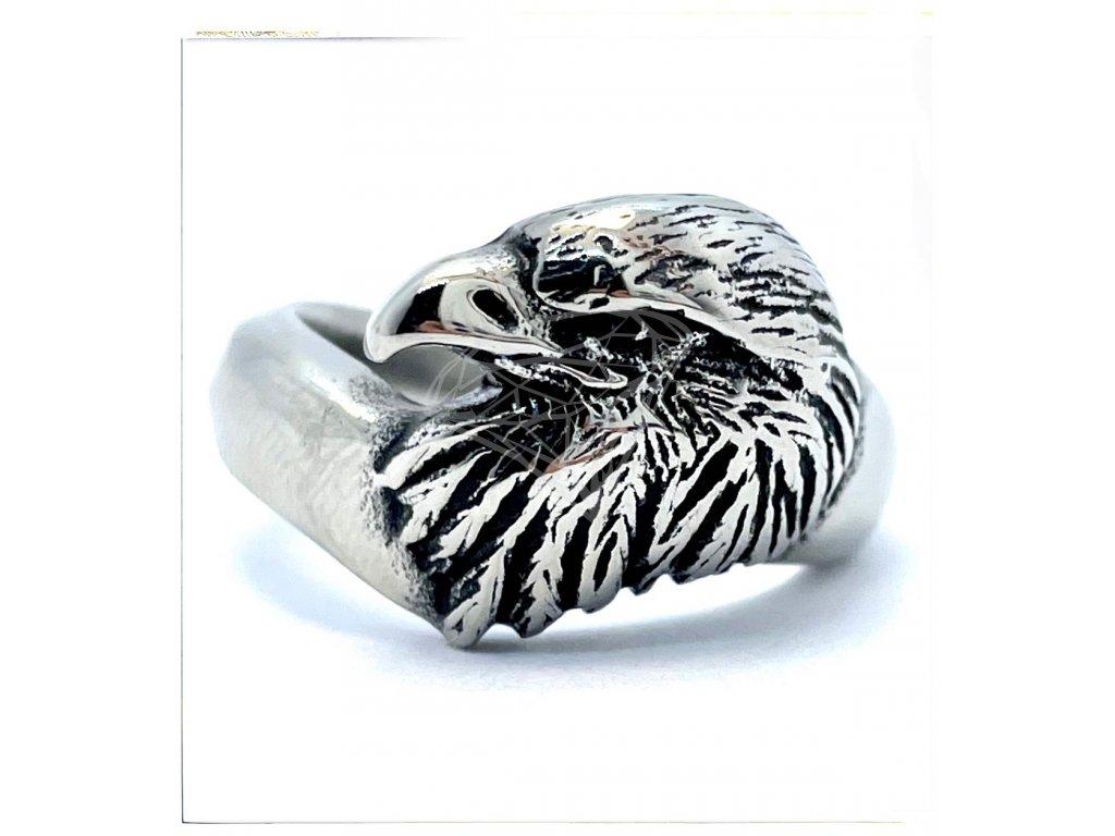 (O115) Ocelový pánský prsten OREL