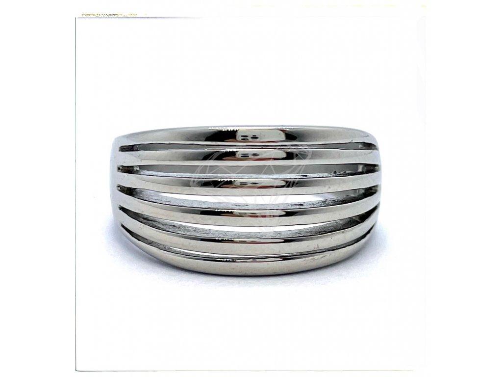 (O165) Ocelový dámský prsten bez kamínků
