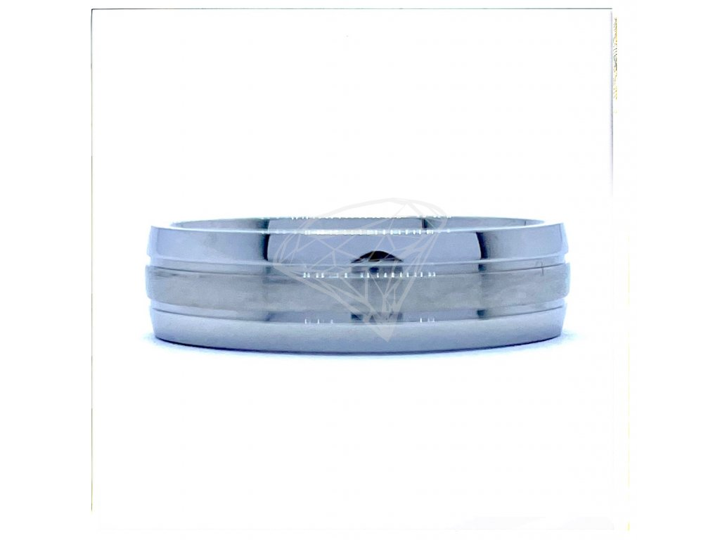 (O135) Ocelový prsten 6 mm, UNISEX