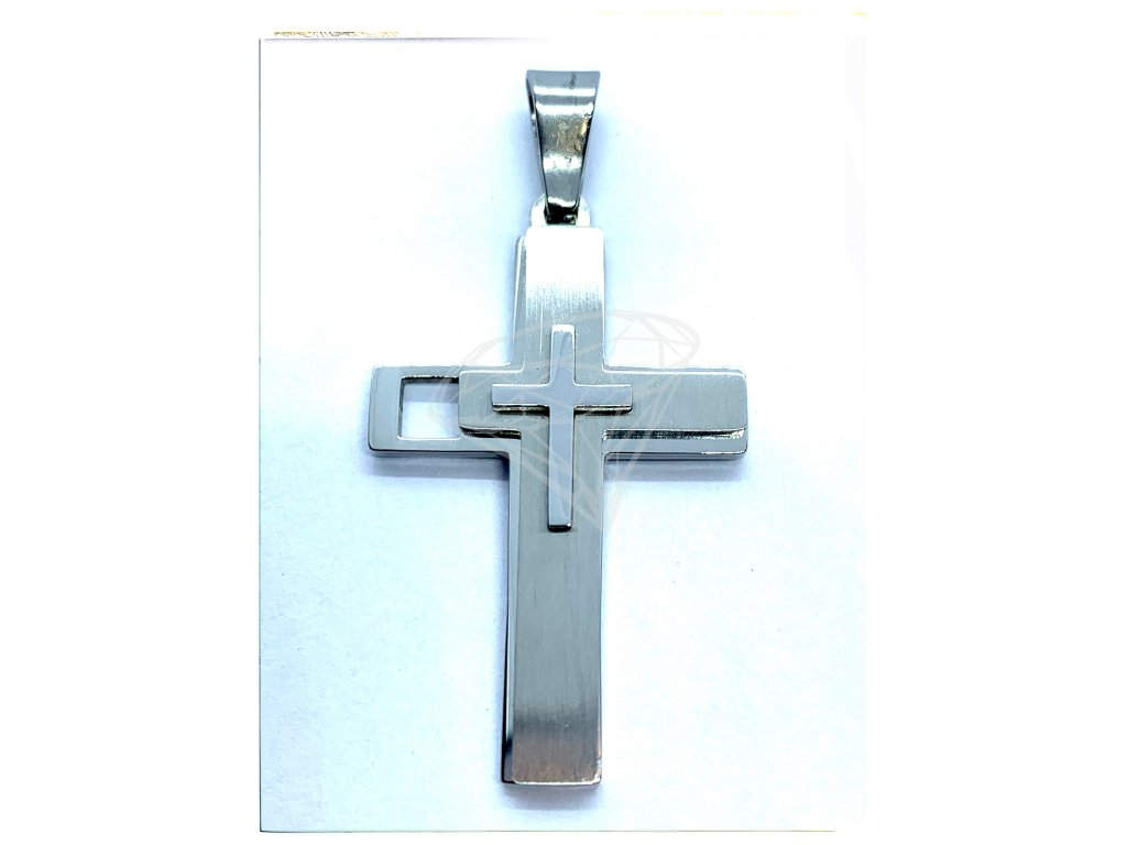 (O410) Ocelový kříž, MAT/LESK
