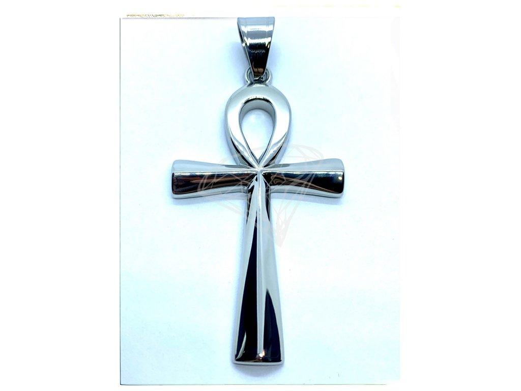 (O420) Ocelový kříž 5 cm, Nilský kříž, ANCH