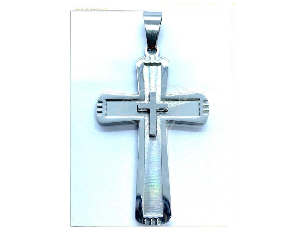 (O439) Ocelový kříž 4,2 cm