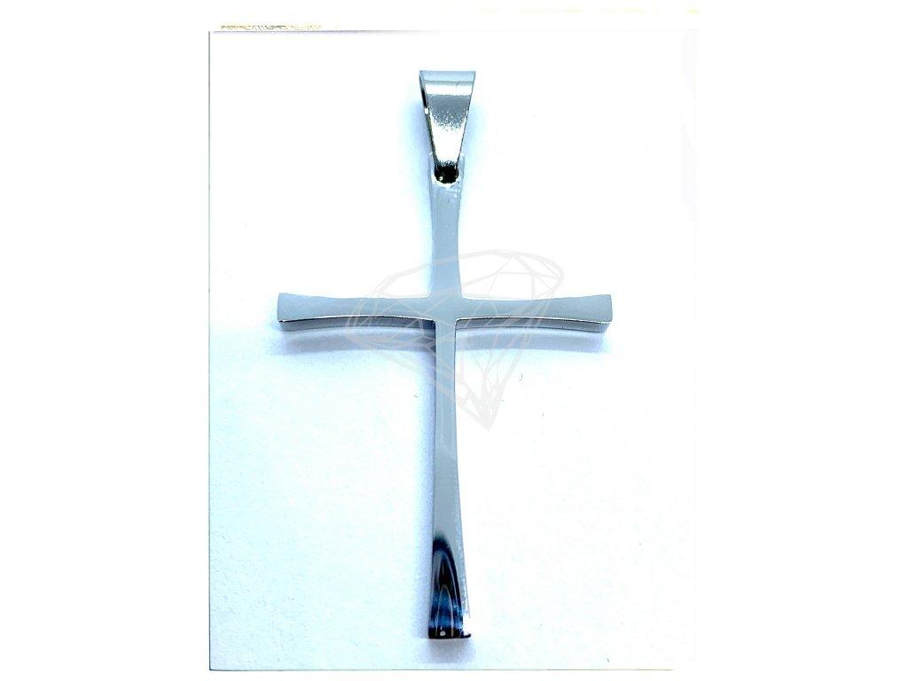 (O440) Ocelový kříž, lesklý 4 cm