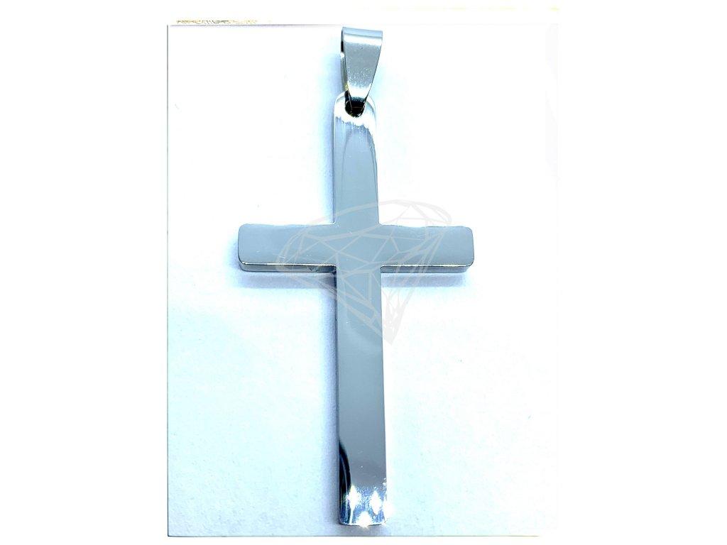 (O442) Ocelový kříž, lesklý 4,7 cm