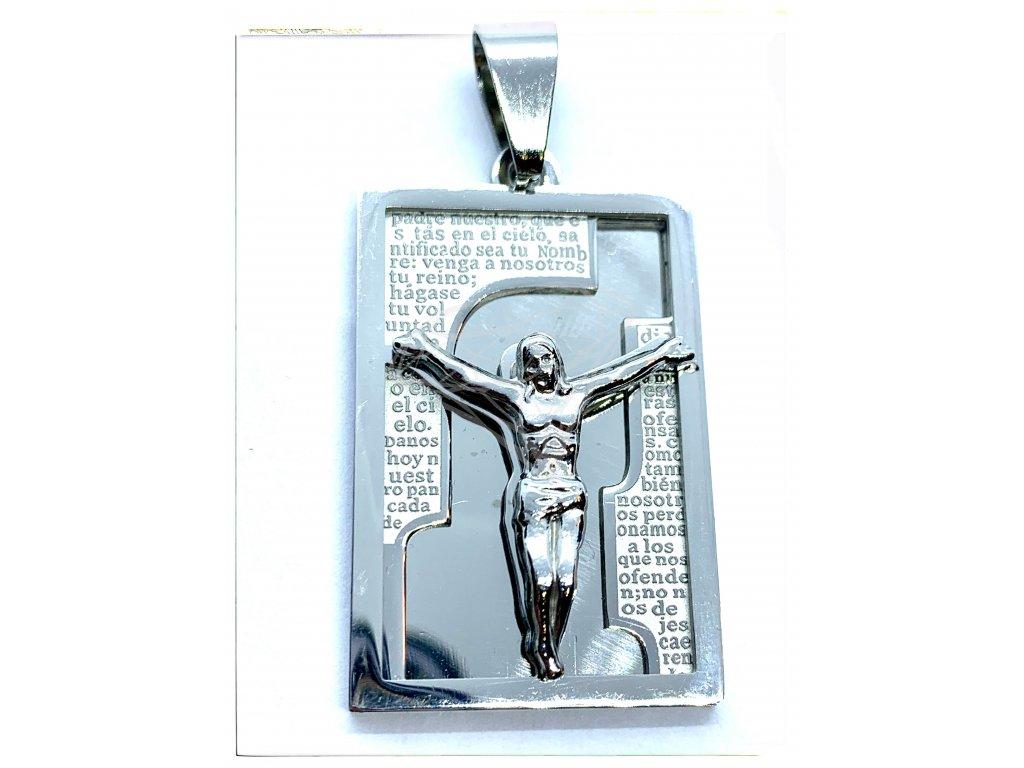 (O447) Ocelová ploška s JEŽÍŠEM