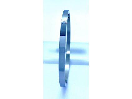 (O612) Ocelový PEVNÝ dámský náramek bez kamínků