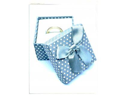 (A002) Papírová krabička na šperky s mašlí