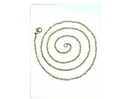 (O369) Ocelový dámský řetízek 36 - 50 cm/0,15 cm, GOLD/zlatá barva, B-ANKER
