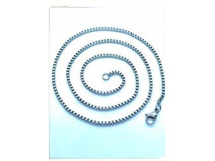 (O371) Ocelový řetízek UNISEX 36 - 50 cm/0,15 cm, hranatý VENEZIA
