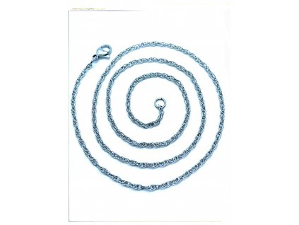 (O375) Ocelový dámský řetízek 36 - 50 cm/0,2 cm, kroucený LAMBÁDA