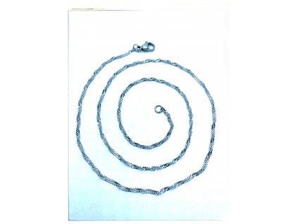 (O374) Ocelový dámský řetízek 36 - 50 cm/0,15 cm, kroucený LAMBÁDA