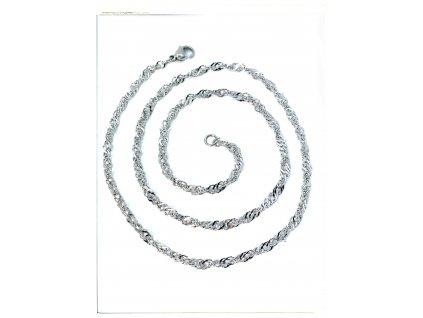 (O378) Ocelový dámský řetízek 36 - 50 cm /0,3 cm, kroucený LAMBÁDA