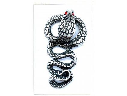 (O3421) Ocelový přívěšek HAD kobra