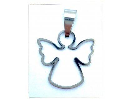 (O3491) Ocelový přívěšek ANDĚL
