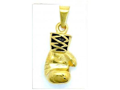 (O3816) Ocelový přívěšek BOXERKA, GOLD/zlatá barva