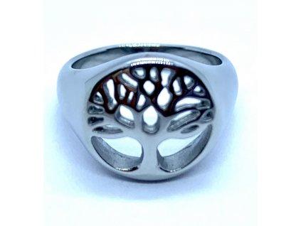 (O155) Ocelový dámský prsten STROM ŽIVOTA