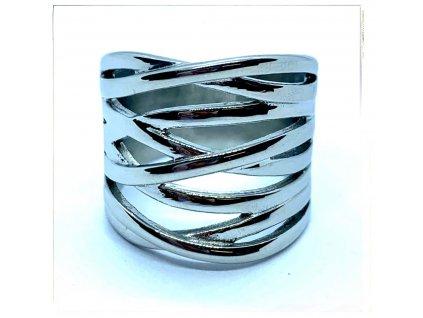 (O152) Ocelový dámský prsten bez kamínků RŮŽENKA