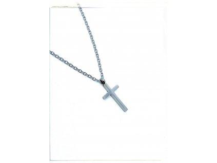 (O4044) Ocelový dámský set/náhrdelník KŘÍŽEK bez kamínků