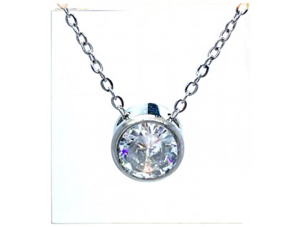 (O4060) Ocelový dámský set/náhrdelník s kamínkem