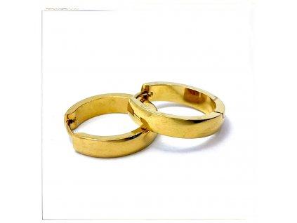(O5336) Ocelové náušnice KROUŽKY Ø 20 MM, GOLD/zlatá barva