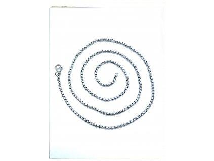 (S374) Ocelový řetízek UNISEX 36 - 100/0,2 cm, KULATÝ