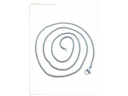 (S373) Ocelový řetízek UNISEX 36 - 100/0,15 cm, KULATÝ