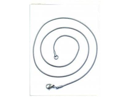 (O383) Ocelový dámský řetízek LANKO (HÁDĚ) 42,50,55,60/0,1 cm