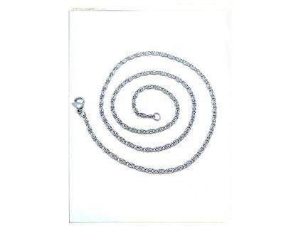 (O355) Ocelový řetízek ŠNEK 36 - 50/0,25 cm