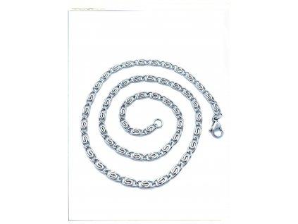 (O357) Ocelový řetízek ŠNEK 36 - 50/0,4 cm