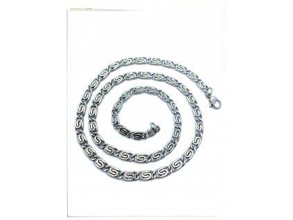 (O358) Ocelový řetízek ŠNEK 36 - 55/0,5 cm