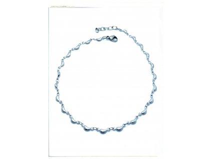 (O9023) Ocelový řetízek na nohu KAPKA